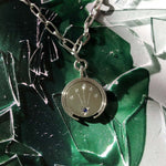 silver jewelry coin sapphire and chain