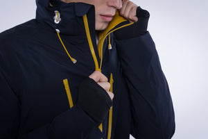 5V Heated Men's Down Jacket (Navy)
