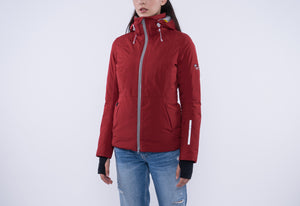 5V Heated Women's Down Jacket (Red)