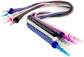Shisha Hose Pipe with Acrylic Nozzle 4colors 1.7Meter
