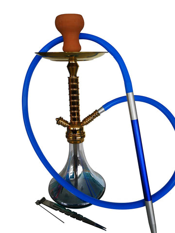Gold Galvanized Shisha Kit with Hose