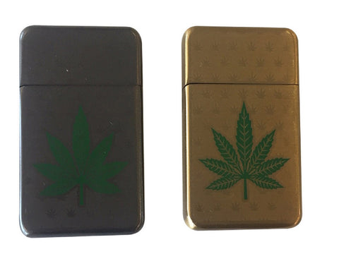 Weed Engraved Zippo Style Lighter