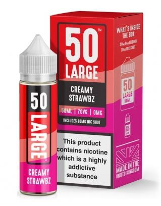 50 LARGE - Creamy Strawbz UK e-juice 50ml & 3mg Nic shot