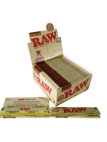 Raw Natural Unrefined Hemp Rolling Paper King Size Slim