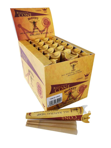 Hornet Pre-Rolled Natural Hemp Rolling Paper 3CONES/PACK Kingsize