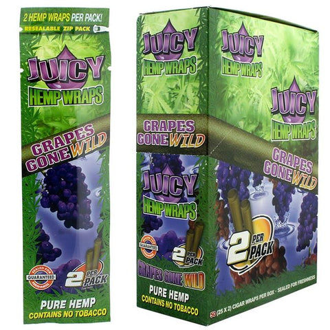 JUICY 2PCS Hemp Wraps - No Tabacco