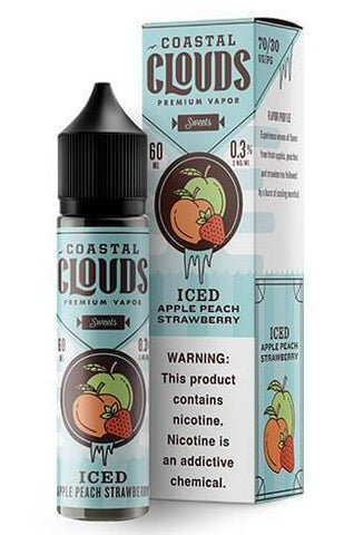 COASTAL CLOUDS - ICED APPLE PEACH STRAWBERRY 60ml