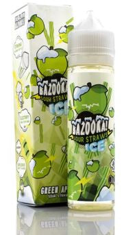 BAZOOKA ICE GREEN APPLE SOUR STRAWS 60ML 3MG