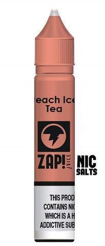ZAP! SALT NIC - Peach Ice Tea 20mg 10ml