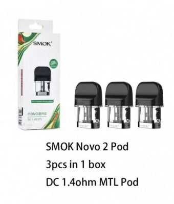 SMOK NOVO 2 POD DC 1.4ohms MTL Replacement Pod Cartridge (3pcs/pack)