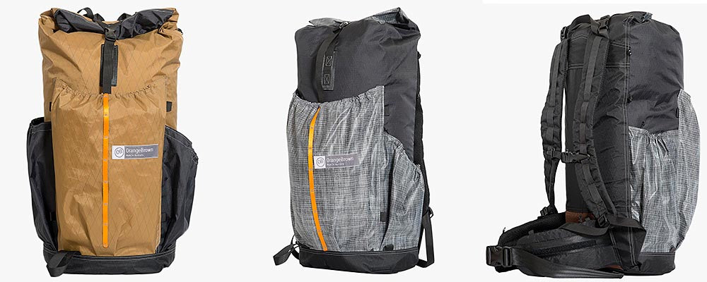 Three ultralight hiking backpacks made from X-Pac fabric. Made in Australia.