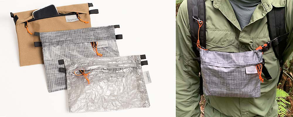 OrangeBrown Sternum Strap Bag - Ultra lightweight hiking and bushwalking gear handmade in Australia