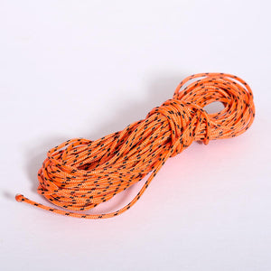 2mm thick Australian made high strength ultra-high-molecular-weight polyethylene core (UHMWPE) rope with a special hard wearing polyester cover in colour orange with black flecks.