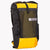 Australian made backpack in yellow and black X-Pac fabric. The pack has a volume of 36 L including two side pockets and a front mesh pocket. Side compression cord with a Line Loc 3 and an orange webbing loop to fix the trekking poles.