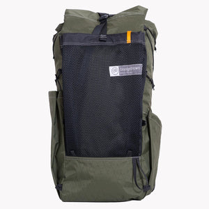 OrangeBrown backpacks Australia. Ultralight OB 45 in XPAC VX21 green.