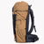 Hiking backpack made from X-Pac fabric in colour coyote. Featuring three external pockets, roll top with Y-strap closure, padded hip belt and load shifters.