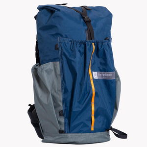 Ultralight Australian made backpack for backpacking and hiking. Made from X-Pac fabric in colour blue-grey.