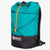X-Pac fabric day pack with roll closure in teal-black. Handmade in Australia.
