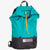 Ultralight day pack with roll closure in teal-black. Handmade in Australia from X-Pac fabrics.