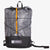 Frontal view of ultralight day pack with roll closure in grey-black. Handmade in Australia from X-Pac fabrics.