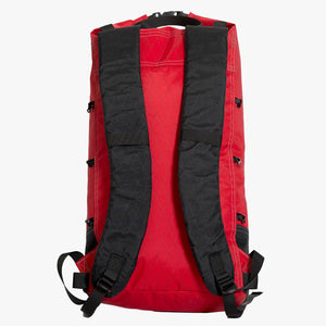 Day pack with a volume of 17 L is ideal for day hikes and bushwalks. Made in Australia from X-Pac fabric in colours red and black.