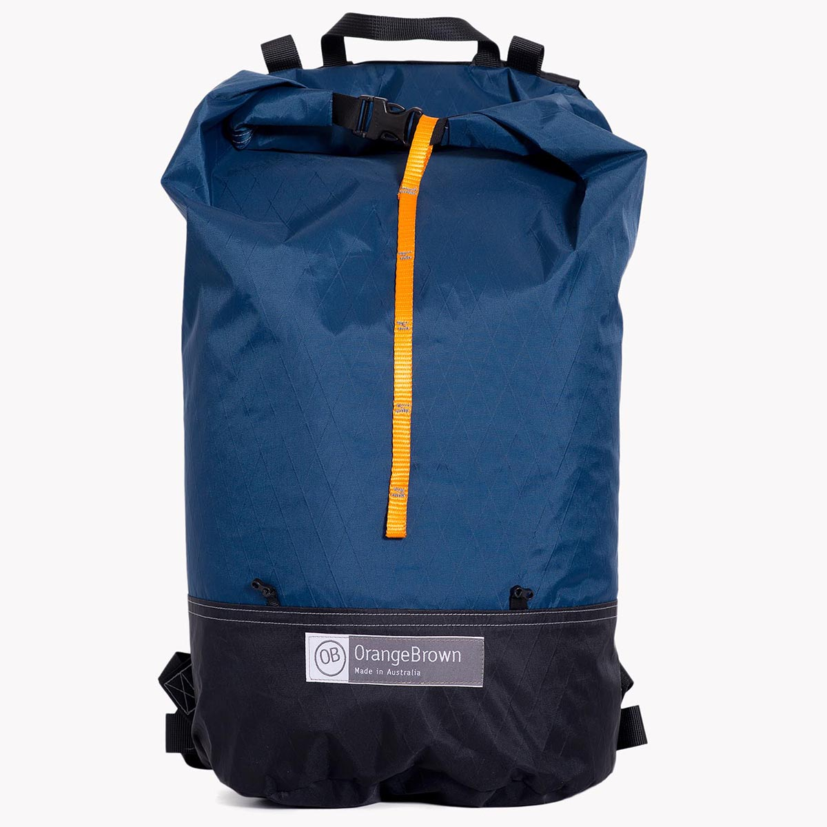 Australian made backpack for day hikes and bush walks. Made in Australia from X-Pac fabric in blue.