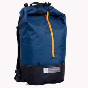 Australian made day pack for day hikes and bush walks. Made in Australia from X-Pac fabric in blue-black.