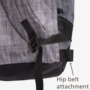 Attachement webbing loop for the OrangeBrown accessory of an hip belt with dual adjustable buckle for the OB 17 Daypack