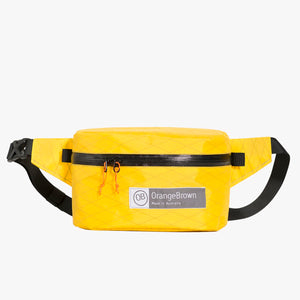 Fanny Pack OB 2.4. This Bum Bag is hand made from X-Pac VX21 in colour yellow by OrangeBrown.