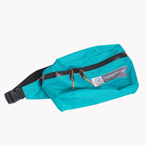 Fanny Pack made by OrangeBrown from X-Pac fabric in colour teal with a 25 mm webbing belt and #5 YKK Aquaguard zip