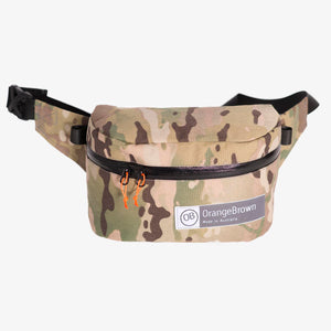 Fanny Pack for hiking and walking. This Bum Bag is hand made from X-Pac X33 Cordura in colour camouflage by OrangeBrown.