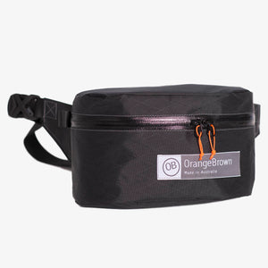 Fanny Pack for hiking and walking. This Bum Bag is hand made from X-Pac VX21 in colour black by OrangeBrown.