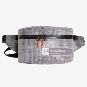 Fanny Pack for hiking and walking. This Bum Bag is hand made from X-Pac Lite Skin in colour grey by OrangeBrown.