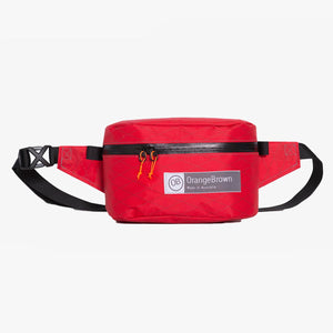 Fanny Pack for hiking and walking. This Bum Bag is hand made from X-Pac VX21 in colour red by OrangeBrown.