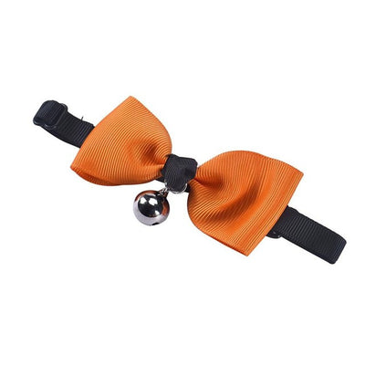 Pet Collar Adjustable Bow Tie With Bell