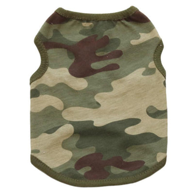 Camouflage Design T Shirt Clothes for Small Dog