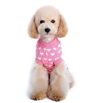 Hearts Pink Design Coat For Dog Clothes
