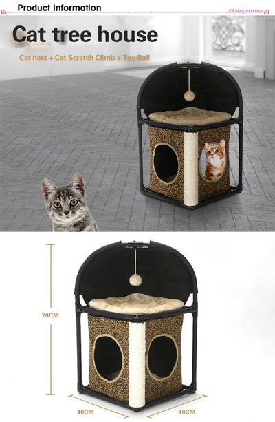 Cat Tree Furniture with Scratchers House