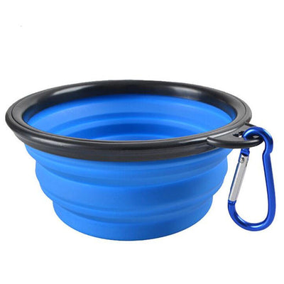 Portable Travel Collapsible Bowl of Silicone with Clip