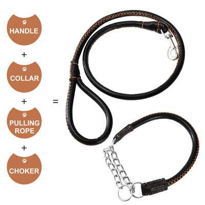 Pet Leash with Collar Set Handmade for Small Medium Pet