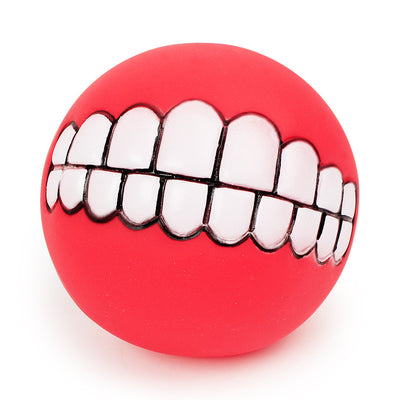 Squeaky Funny Teeth Ball