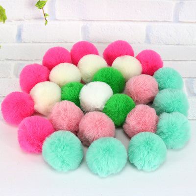 10PCS Cat Toys Assorted Color Soft Pompon Balls