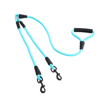 Double Leash Heavy Duty Durable Walking Training for Small and Medium Dogs