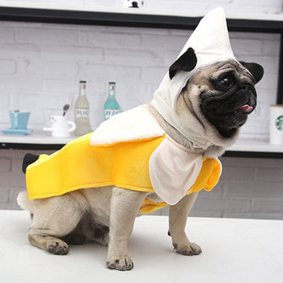 Pet Banana Costume Clothes for Christmas Party