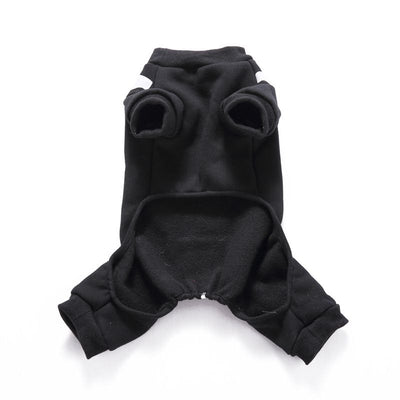Skeleton Dog Clothes Funny Dog Hoodies Halloween Party