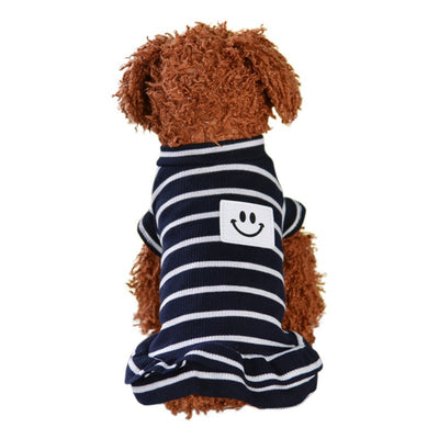 Dog Clothes Striped Skirt