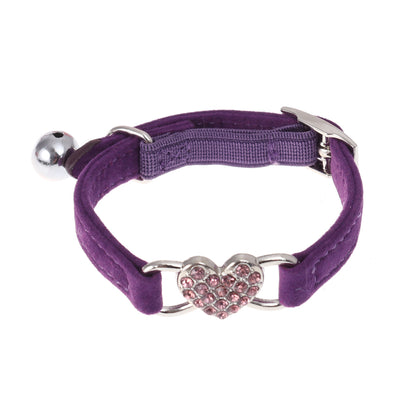 Pet Collar Adjustable Peach Heart Design