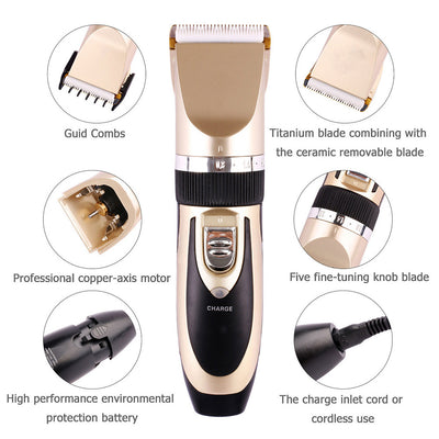 Electrical Pet Clipper Rechargeable Hair Trimmer Shave Grooming Kit