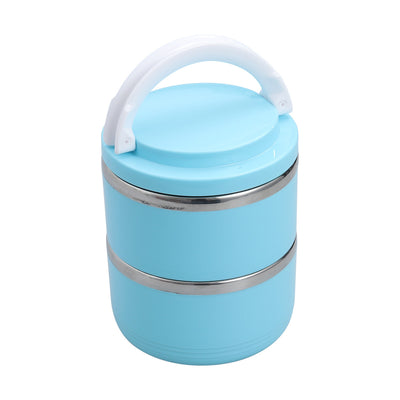 Portable Travel Bowl Double Layers 1100ML Spillproof Stainless Steel