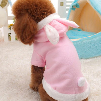 Dog Easter Bunny Costume Warm Coat Pet Party Costumes